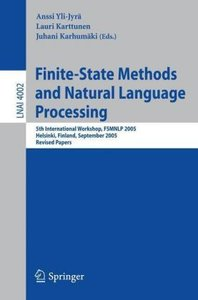 Finite-State Methods and Natural Language Processing