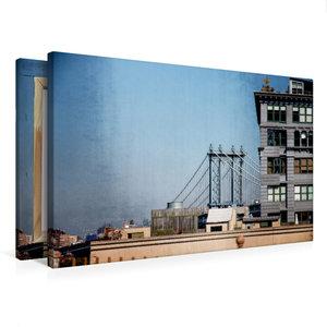 Premium Textil-Leinwand 75 cm x 50 cm quer Brooklyn Bridge 1