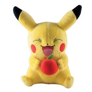 TOMY Pikachu Plüsch mit Apfel 30cm
