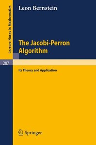 The Jacobi-Perron Algorithm