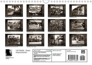 VIETNAM - Retro Impressionen (Wandkalender 2019 DIN A4 quer)