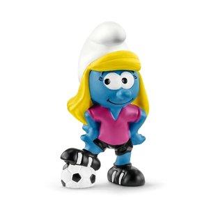 Fußball Schlumpfine, Kunststoff-Figur