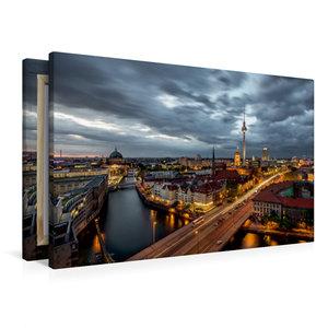Premium Textil-Leinwand 90 cm x 60 cm quer Fischerinsel