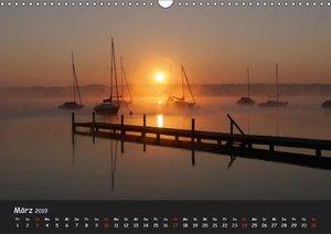 Starnberger See - Silent Moments (Wandkalender 2019 DIN A3 quer)