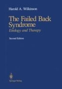 The Failed Back Syndrome