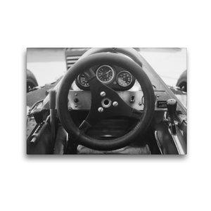 Premium Textil-Leinwand 45 cm x 30 cm quer Formel-Cockpit 1982