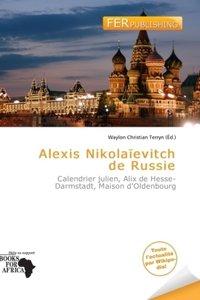 ALEXIS NIKOLA EVITCH DE RUSSIE