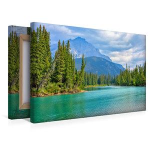 Premium Textil-Leinwand 45 cm x 30 cm quer Bow River bei Banff