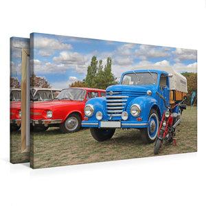 Premium Textil-Leinwand 75 cm x 50 cm quer Framo V901/2 und Mini
