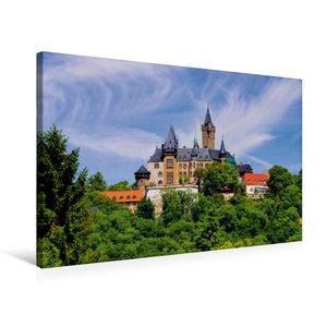 Premium Textil-Leinwand 75 cm x 50 cm quer Schloss Wernigerode