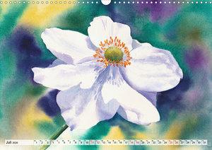 Blumenaquarelle aus der Nähe (Wandkalender 2020 DIN A3 quer)