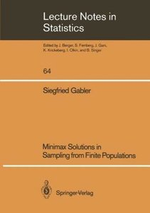 Minimax Solutions in Sampling from Finite Populations