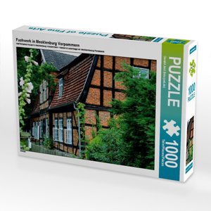 Fachwerk in Mecklenburg Vorpommern 1000 Teile Puzzle quer