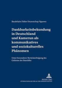 Dankbarkeitsbekundung in Deutschland und Kamerun als kommunikati