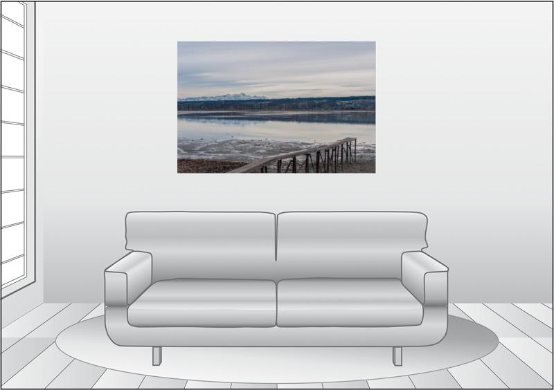 Premium Textil-Leinwand 120 cm x 80 cm quer Untersee bei Hegne - zum Schließen ins Bild klicken