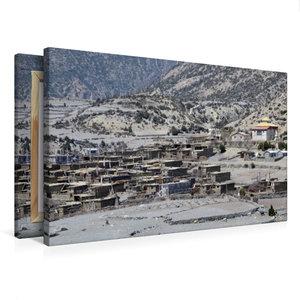 Premium Textil-Leinwand 75 cm x 50 cm quer Oberes Marsyangdi-Tal