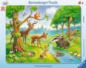 Ravensburger 061389 - Heimische Waldtiere, Rahmenpuzzle, 30 Teil