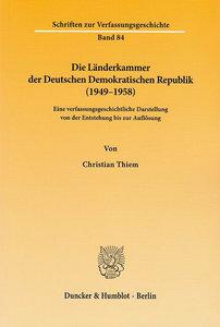 Die Länderkammer der Deutschen Demokratischen Republik (1949-195