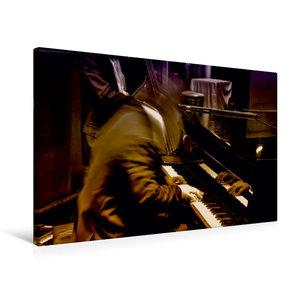 Premium Textil-Leinwand 75 cm x 50 cm quer Klavier Solo für zehn
