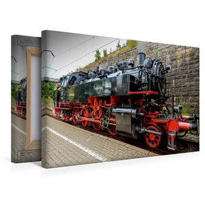Premium Textil-Leinwand 45 cm x 30 cm quer Dampflokomotive Baure