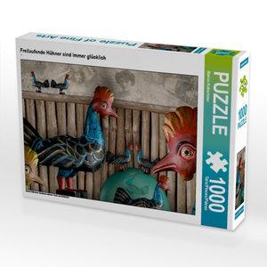 Freilaufende Hühner sind immer glücklich 1000 Teile Puzzle quer