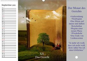 Tarot. Spirituell durch das Jahr (Wandkalender 2020 DIN A2 quer)