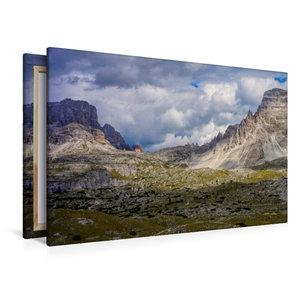 Premium Textil-Leinwand 120 cm x 80 cm quer Dreizinnenhütte