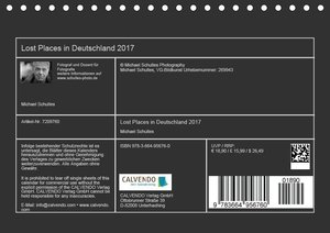 Lost Places in Deutschland 2017 (Tischkalender 2017 DIN A5 quer)
