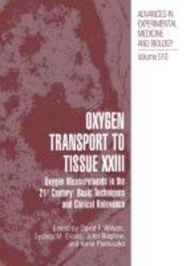 Oxygen Transport To Tissue XXIII