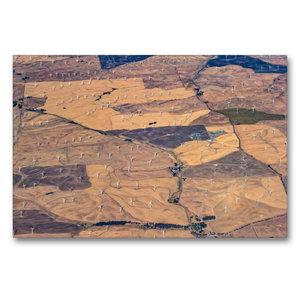Premium Textil-Leinwand 90 cm x 60 cm quer Windkraftanlagen südl