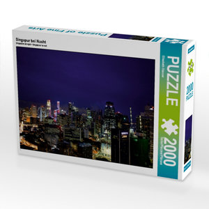 CALVENDO Puzzle Singapur bei Nacht 2000 Teile Lege-Größe 90 x 67