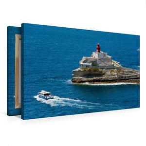 Premium Textil-Leinwand 75 cm x 50 cm quer Bonifacio - Leuchttur