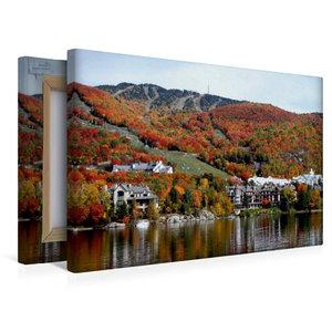 Premium Textil-Leinwand 45 cm x 30 cm quer Mont Tremblant Lodge