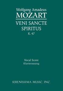 Veni Sancte Spiritus, K. 47 - Vocal Score