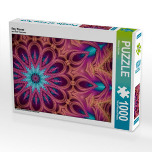 fiery flower 1000 Teile Puzzle quer