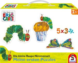 Die kleine Raupe Nimmersatt. Mein erster Puzzlespaß. 5x3 Konturp