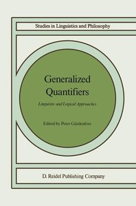 Generalized Quantifiers