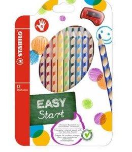 STABILO EASYcolors Start für Rechtshänder 12er Etui mit Spitzer