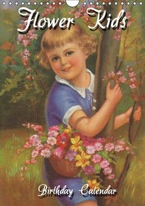 Flower Kids (UK-Version) (Wall Calendar perpetual DIN A4 Portrai