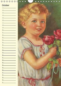 Flower Kids (UK-Version) (Wall Calendar perpetual DIN A4 Portrai