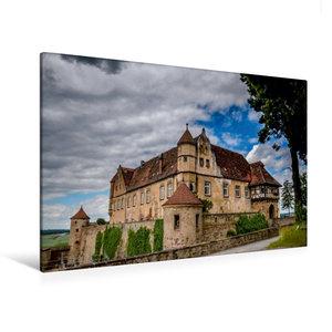 Premium Textil-Leinwand 120 cm x 80 cm quer Burg Stettenfels bei