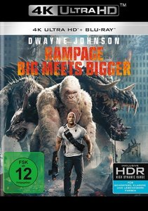 Rampage - Big Meets Bigger 4K, 2 UHD-Blu-ray