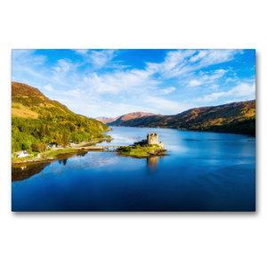Premium Textil-Leinwand 90 cm x 60 cm quer Eilean Donan Castle