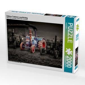 Oldtimer Traktoren Lanz-Bulldog 2000 Teile Puzzle quer