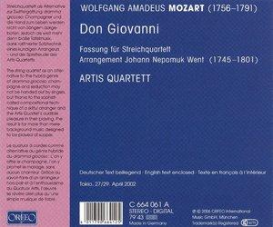 Don Giovanni-Fassung für Streichquartett