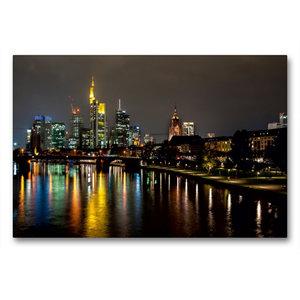 Premium Textil-Leinwand 90 cm x 60 cm quer Frankfurt