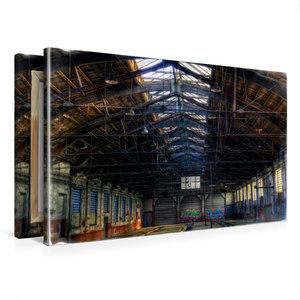 Premium Textil-Leinwand 75 cm x 50 cm quer Güterwagenreparaturha