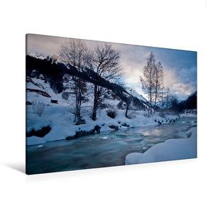 Premium Textil-Leinwand 120 cm x 80 cm quer Frostiger Winter