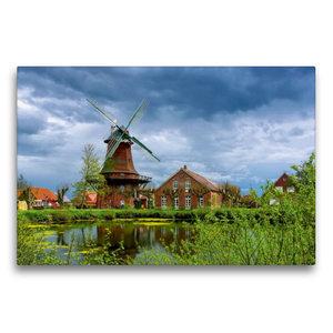 Premium Textil-Leinwand 75 cm x 50 cm quer Nessmer Mühle