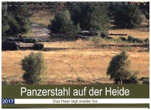 Panzerstahl auf der Heide. Leopardpanzer in Munster